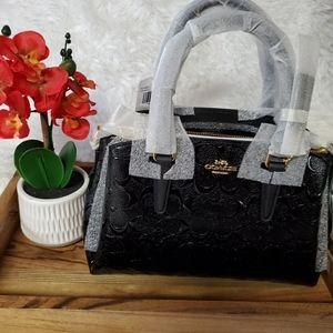Coach Mini Sage Carryall Signature Black Leather